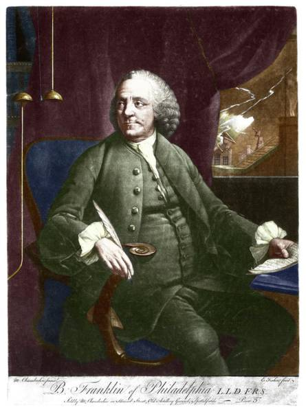 Declaration Of Independence Photograph - Benjamin Franklin by Science Photo Library