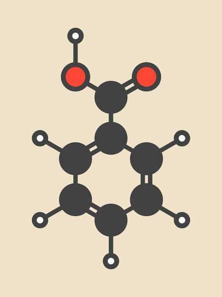 Preservative Wall Art - Photograph - Benzoic Acid Molecule by Molekuul