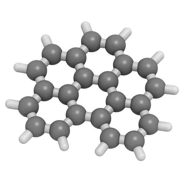 Wall Art - Photograph - Benzoperylene Molecular Model by Molekuul/science Photo Library