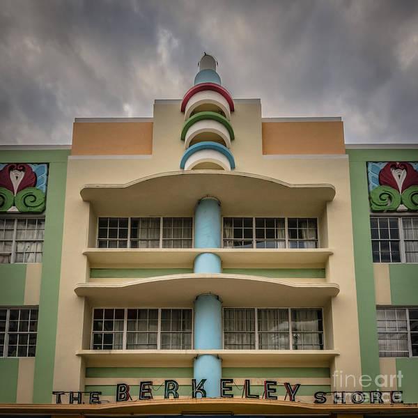 Wall Art - Photograph - berkeley Shores Hotel  2 - South Beach - Miami - Florida - HDR S by Ian Monk