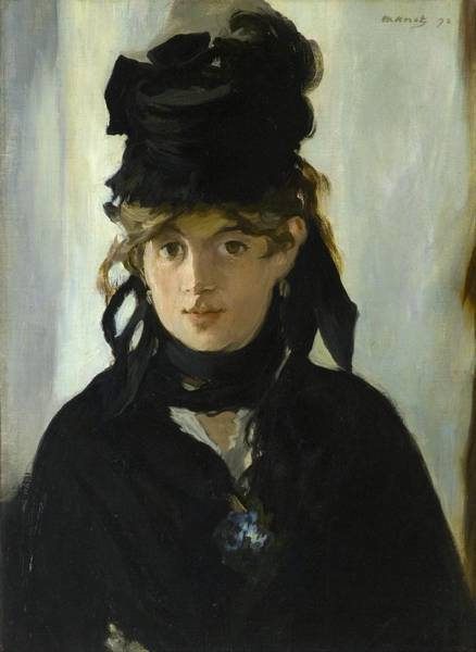 Wall Art - Painting - Berthe Morisot With A Bouquet Of Violets by Edouard Manet