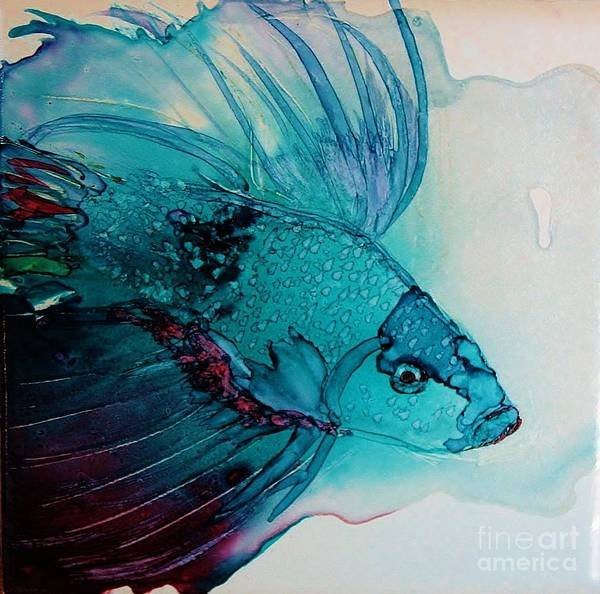 Painting - Betta Dragon Fish by Marcia Breznay