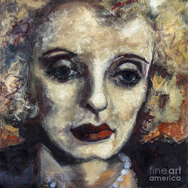 Painting - Bette Davis Classic Movie Stars by Ginette Callaway