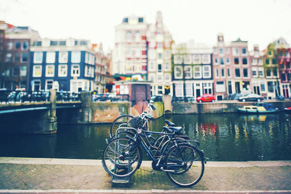 Parking Structure Photograph - Bicycles In Amsterdam by Moreiso