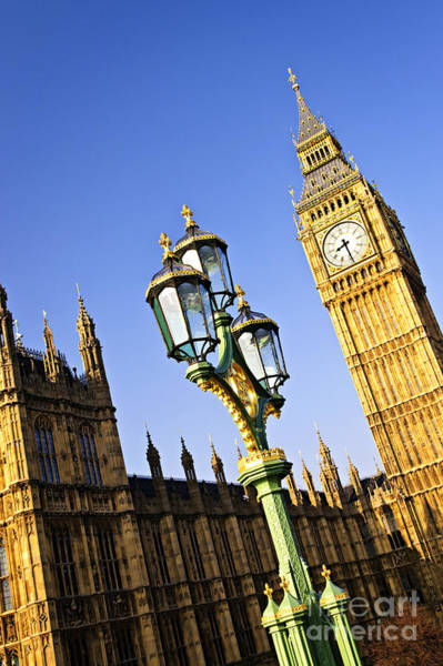 Wall Art - Photograph - Big Ben And Palace Of Westminster by Elena Elisseeva