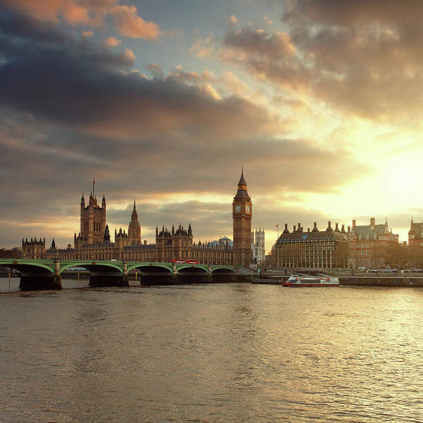 High Dynamic Range Imaging Photograph - Big Ben And The Parliament In London At by Mammuth