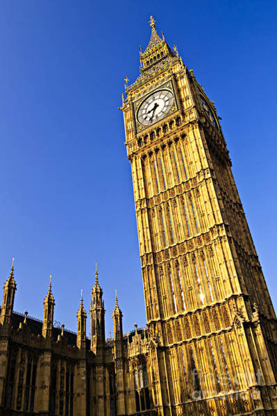 Wall Art - Photograph - Big Ben Clock Tower by Elena Elisseeva