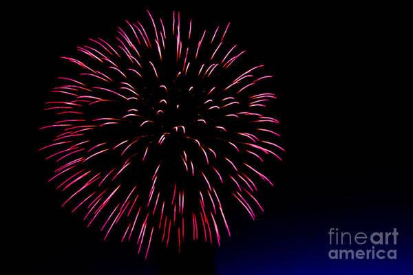 Fireworks Show Wall Art - Photograph - Big Red by Robert Bales