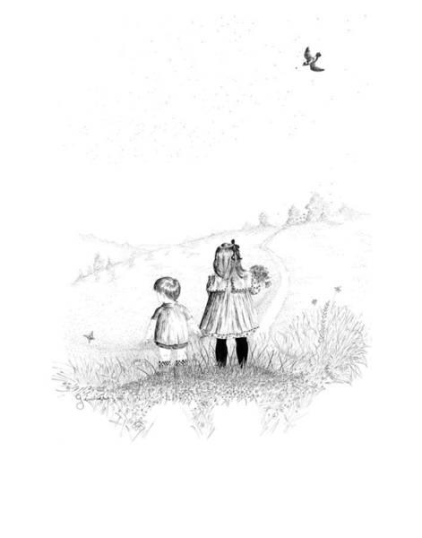 Drawing - Big Sister by Carl Genovese