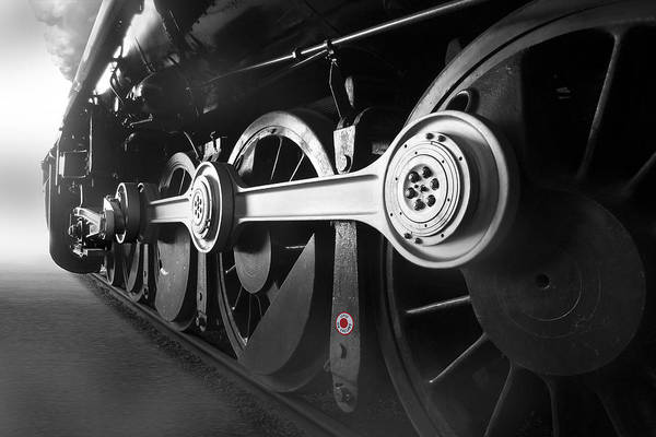 Steam Engine Photograph - Big Wheels by Mike McGlothlen