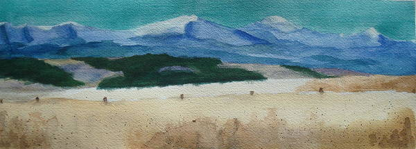 Fencepost Painting - Bighorn Mountains Wy by Susan Woodward