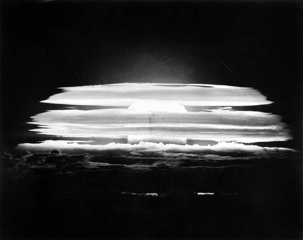 Micronesia Photograph - Bikini Atoll Nuclear Test by Us Department Of Energy
