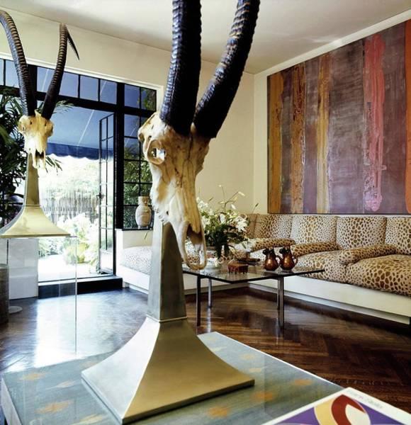 Wall Art - Photograph - Bill Blass' Living Room by Horst P. Horst