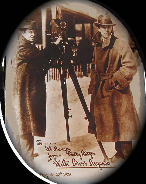 D W Griffith Photograph - Billy Bitzer D.w. Griffith Pathe Camera Way Down East 1920-2013 by David Lee Guss