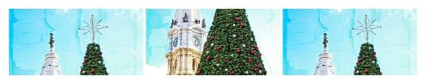 Photograph - Billy Penn Christmas Triptych by Alice Gipson
