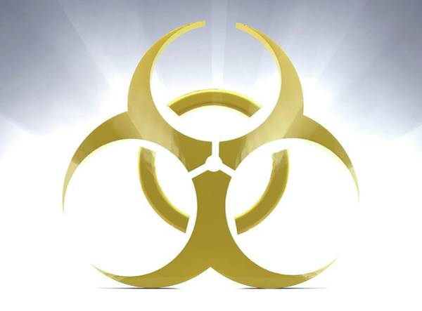 Microbiology Wall Art - Photograph - Biohazard Symbol by Tim Vernon