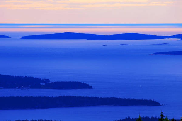Wall Art - Painting - Bird's-eye View From Cadillac Mountain Acadia National Park by Paul Ge