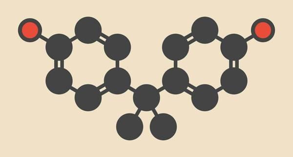 Model A Photograph - Bisphenol Molecule by Molekuul