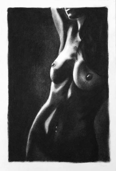 Sensual Drawing - Bitter Sweet - Drawing by Blue Muse Fine Art
