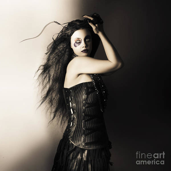 Photograph - Black Portrait Of A Sexy Fashion Make Up Model   by Jorgo Photography - Wall Art Gallery