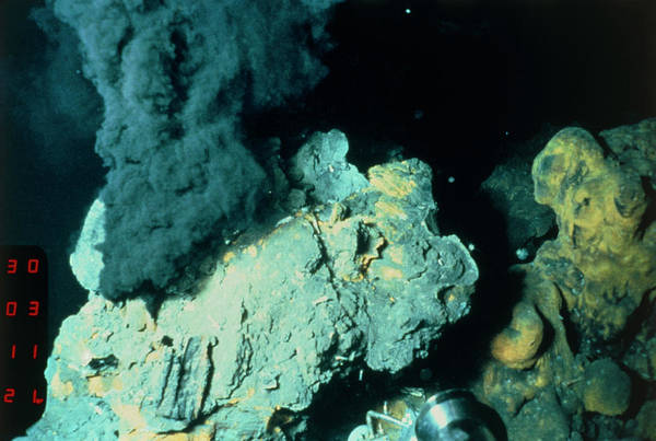 Vent Photograph - Black Smoker Vent by B. Murton/southampton Oceanography Centre/ Science Photo Library