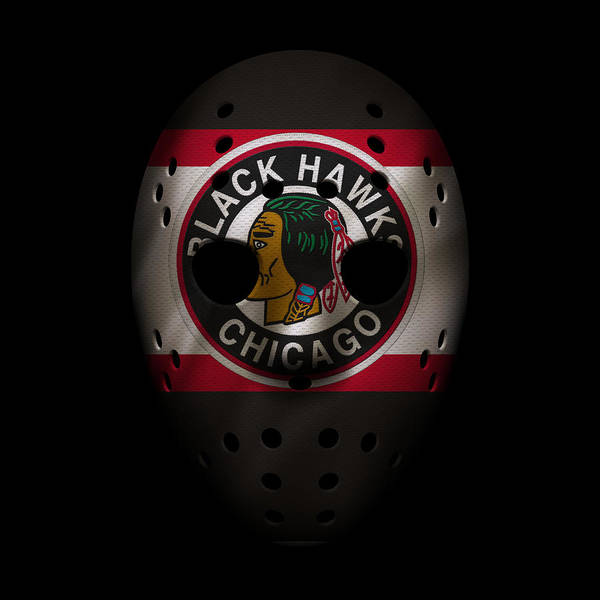 Wall Art - Photograph - Blackhawks Jersey Mask by Joe Hamilton