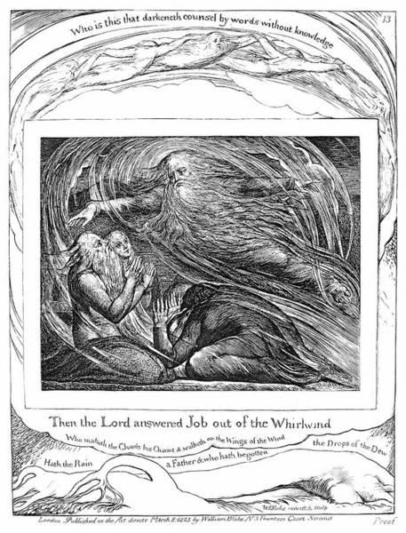William Blake Drawing - Blake Book Of Job, 1825 by Granger