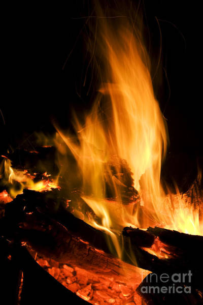 Bonfire Wall Art - Photograph - Blazing Campfire by Jorgo Photography - Wall Art Gallery