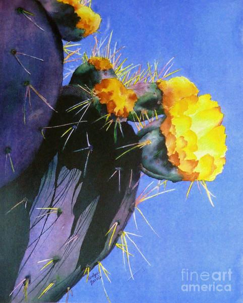 Painting - Blooming Cactus by Carolyn Jarvis