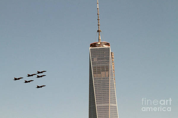 Photograph - Blue Angels Flyover Wtc by Steven Spak
