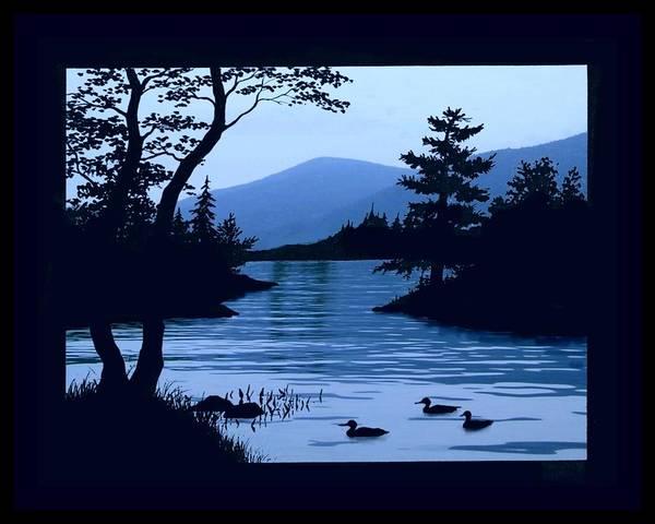 Adirondack Mountains Digital Art - Blue Dawn On Lake George  by Linda Seifried