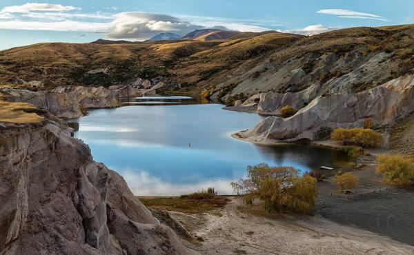 Lakes Region Photograph - Blue Lake, Saint Bathans, Otago by Australian Scenics