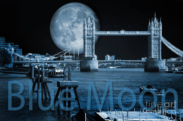 Wall Art - Photograph - Blue Moon by Donald Davis