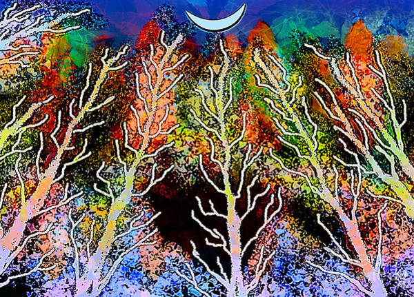 Fife Painting - Blue Moon by Neil Finnemore