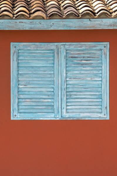 Photograph - Blue Window Shutter Of Aruba II by David Letts