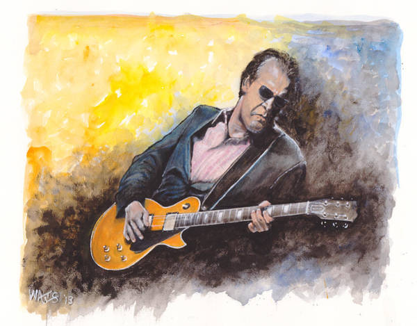 Wall Art - Painting - Blues Man by William Walts