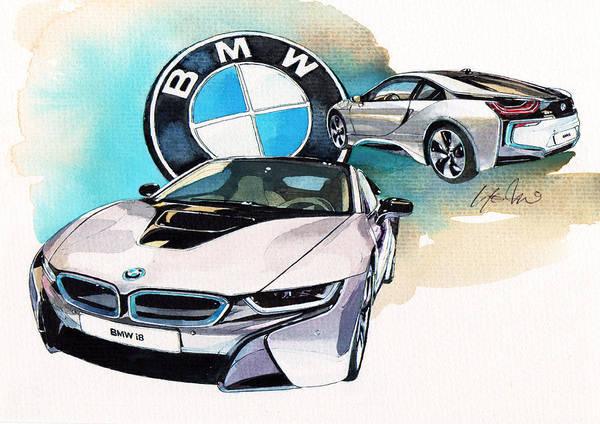 Bmw Painting - Bmw I8 by Yoshiharu Miyakawa