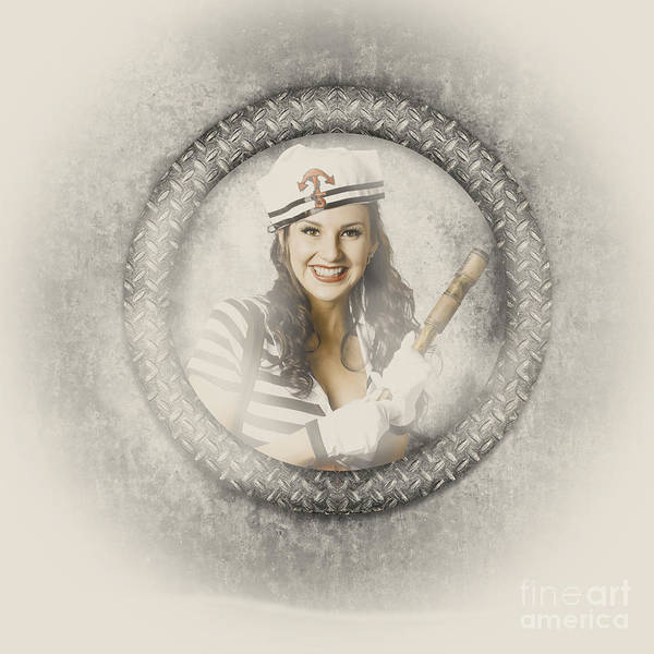 Cadets Wall Art - Photograph - Boating Pin-up Woman On Nautical Shipping Voyage by Jorgo Photography - Wall Art Gallery