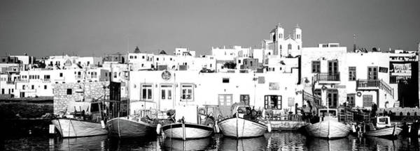 Wall Art - Photograph - Boats At The Waterfront, Paros by Panoramic Images