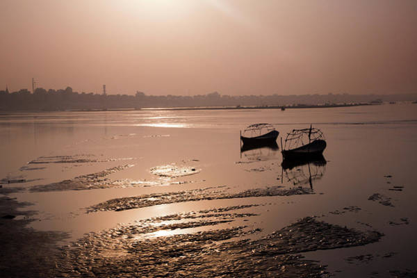 Ganges River Photograph - Boats In The Ganges River During Kumbh by Exotica.im