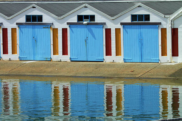 Port Clyde Photograph - Boatsheds, Clyde Quay Marina by David Wall