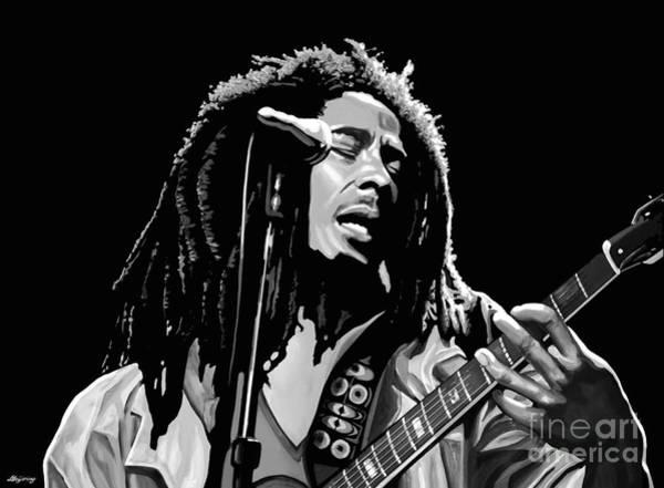 Love You Mixed Media - Bob Marley by Meijering Manupix