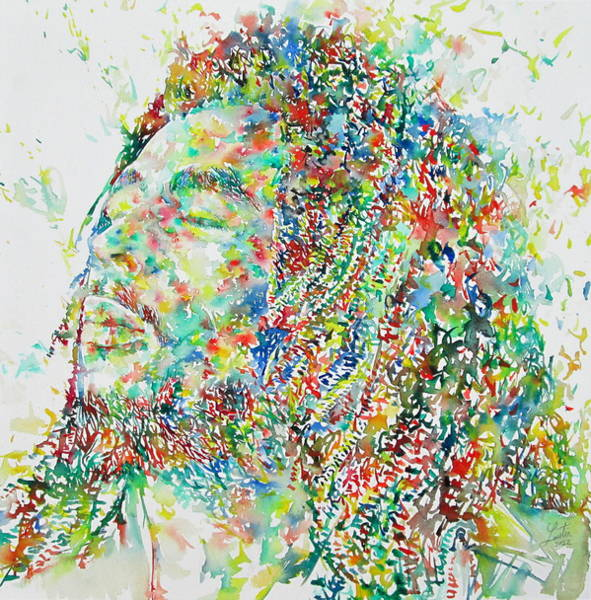 Wall Art - Painting - Bob Marley  by Fabrizio Cassetta