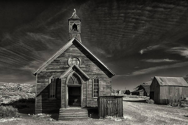 Bodie Photograph - Bodie Church by Robert Fawcett