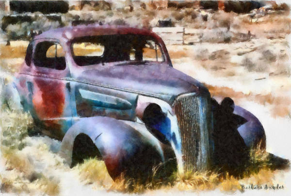 Bodie Digital Art - Bodie Ghost Town Plymouth by Barbara Snyder