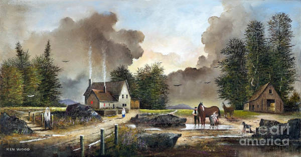 Painting - Bodmin Farm by Ken Wood
