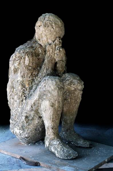 Wall Art - Photograph - Body Cast Of Victim Of Pompeii Eruption by Patrick Landmann/science Photo Library