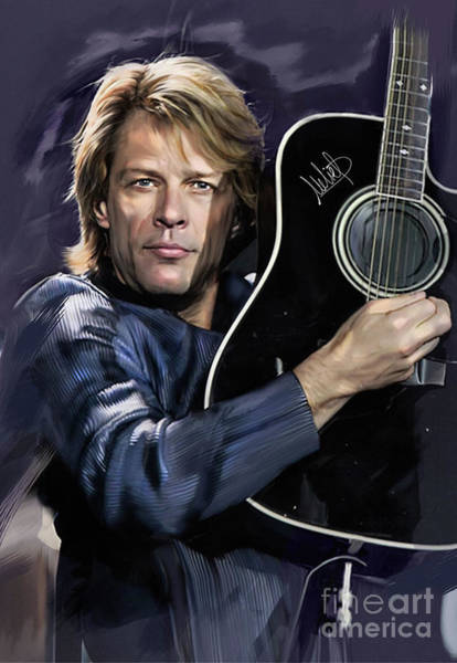 Wall Art - Mixed Media - Bon Jovi by Melanie D