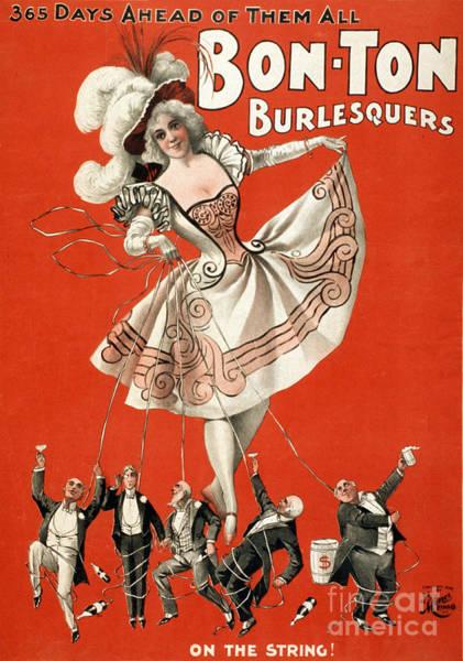 Photograph - Bon Ton Burlesquers 1898 by Photo Researchers