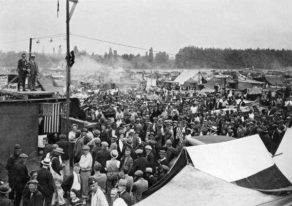 Photograph - Bonus Expeditionary Force Camp by Underwood Archives